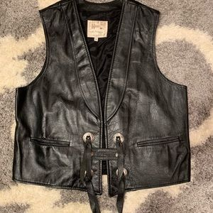 Leather vest, vintage, perfect condition